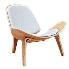 Nye Koncept 224430-C Oatmeal Gray Shell Chair - Natural