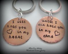 Long Distance Relationship Key Chains Deployment by MadeFromWithin, $24.00