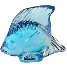 Lalique Lustre Turquoise Fish ($99) ❤ liked on Polyvore