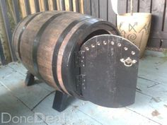 the wine barrel dog kennel from the custom wine barrel company rh pinterest com