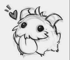 Bildresultat för poro drawing - League of Legends Creature Drawings, Animal Drawings, Desenhos League Of Legends, Legend Drawing, Drawing Drawing, Lol Champions, Lol League Of Legends, Creepy Cute, Cute Creatures