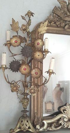 Antique chandelier - brocante-charmante