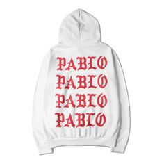 Pablo Hoodie (2,740 DOP) ❤ liked on Polyvore featuring tops, hoodies, white cotton tops, white hoodies, white hooded sweatshirt, white hoodie and sweatshirt hoodies
