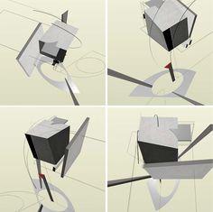 El Lissitzky … the cubes make Russian Constructivism art more 3D than Bauhaus.