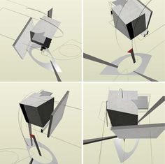 El Lissitzky … the cubes make Russian Constructivism art more 3D than Bauhaus.