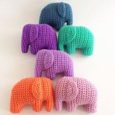 Elephant mania  I needed a lot of babygifts so I decided to take it easy and make more elephant rattles  #crochetelephant #elephantrattle #crochetbabytoy #instacrochet #amigurumi #amigurumielephant #crochê #crochet #haken #häkeln #hekle #hækle #virka #virkat #ganchillo #crochetersofinstagram