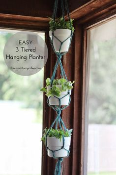 The Cream To My Coffee Easy Hanging Planter