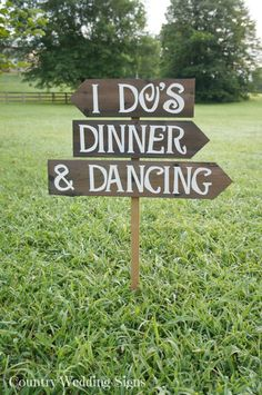 I DOS, DINNER & DANCING Rustic Wedding Sign, Outdoor Wedding Sign, Rustic Wedding Signs, Country Wedding Signs, Large Wedding Sign, Wooden via Etsy