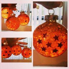 Dragonball Z DIY dragonball ornaments!!