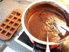 Herstellung von Low Carb Schokolade