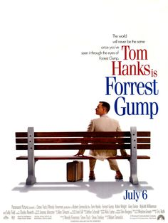 """""""Forrest Gump"""" > 1994 > Directed by: Robert Zemeckis > Comedy Drama / Americana / Period Film / Drama / Romance"""