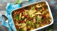 Pečené bravčové s feniklom a karí korením I Want To Eat, Lidl, Thai Red Curry, Ale, Pork, Cooking Recipes, Favorite Recipes, Chicken, Meat