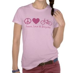 Peace, Love and; Bicycles Tee Shirt