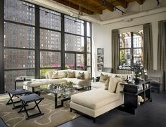Living Rooms: Private Loft Residence by Jamesthomas, LLC #decor