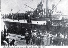 Landing of immigrants in the Port of Santos
