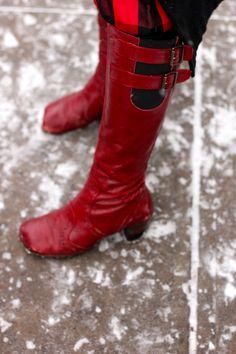 @John Fluevog Shoes Red Boots, wintertime staple