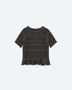 Image 8 of SWEATER WITH SHORT FRILLED SLEEVES from Zara
