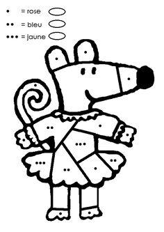 Coloriage Magique Ms à colorier - Dessin à imprimer