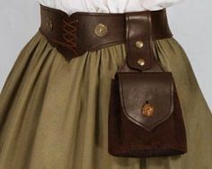 "Steampunk - Leather Bag ""Wotan"" No. 2 - USD - Medieval and Renaissance Clothing, Handmade by Your Dressmaker Renaissance Clothing, Renaissance Fair, Renaissance Costume, Moda Medieval, Medieval Belt, Steampunk Fashion, Steampunk Clothing, Steampunk Belt, Gypsy Clothing"