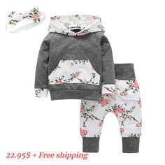 Material: Cotton.Soft and Comfortable, Quickly Dry and Breathable. ♥ Style: Long Sleeve,Solid color,letter Printed,floral pants, Formal, Party, Casual, New in Fashion ♥ Perfect: winter outfits for you little cute,your girl will get lots of compliments ♥ Best gift for your cute baby girl , granddaughter,Nephew...Specially design for little sister ♥ Package included: 1 x Baby's sweatshirt + Long floral pants+ headband Pants Outfit, Outfit Sets, Hoodie Outfit, Dress Pants, Baby Outfits, Kids Outfits, Winter Outfits, Girl Sleeves, Floral Pants
