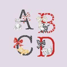 Le grand ABC «Chats» à broder au point de croix les brodeuses parisiennes