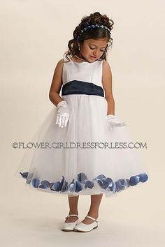 Flower Girl Petal Dress Style 152- BUILD YOUR OWN! 22 Petal Color Options