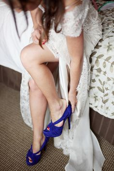 Cobalt blue cutout peep-toes ♥ #MoissaniteCandyBox LOVE COLORED HEELS
