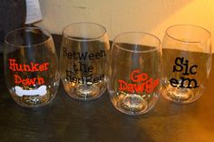 Must have govinos stemless wine glasses!