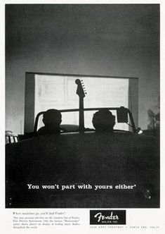 Fender: You won't part with yours either 1957 Advert by Bob Perine