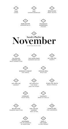 on the blog: November Playlist