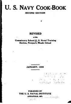 U.S. Navy cook-book