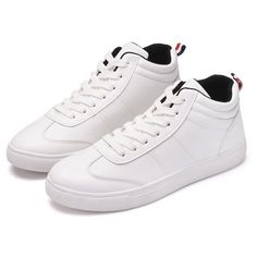 Men Shoes PU High Top Sneakers Casual Outdoor Fashion Chukkas ($19) ❤ liked on Polyvore featuring men's fashion, men's shoes, men's sneakers, white, mens white sneakers, mens summer shoes, mens hi tops, mens summer sneakers and mens chukka boots