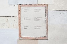 Tokyo-based multi-lingual translator and writer Darryl Jingwen Wee's business cards are printed on handmade paper made from his own published articles. Each paper is unique in color and thickness and hand-printed using an ink transfer pen, signifying FPDG's choice to forgo a traditional logo in favor of employing materials as the voice of the ide