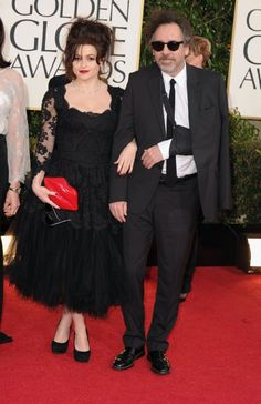 tim burton is married to the lady from harry potter she is also in his movie  alice in wonderland