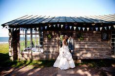 laid-back log cabin beach wedding Ravensheugh Log Cabin, Tyninghame, Scotland