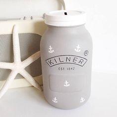 Kilner Jars, Mason Jars, Jar Design, Design Ideas, Mason Jar Planter, Money Jars, Diy Gifts, Handmade Gifts, Painted Jars