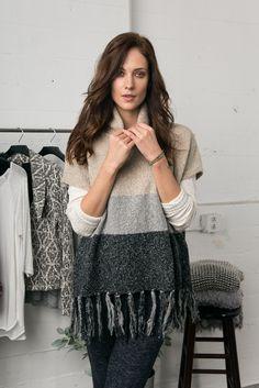 Bobeau Fall 2015 collection Fringe Sweater #lookbook Sweater Dressing #cozy