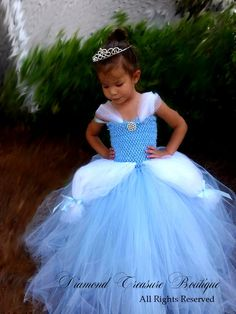 This magical ensemble is inspired by the one and ponly Cinderella. Made of the highest Cinderella blue and white tulle, embellished with trims and dazzling sparkles beads your lil princess will be the wueen of the ball with this beautiful dress. Cinderella Party, My Beautiful Daughter, White Tulle, Madness, Beautiful Dresses, Modeling, Flower Girl Dresses, Blue And White, Costumes