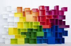 Library in various colors / Bibliothek in verschiedenen Farben