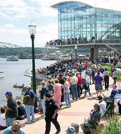 Mississippi Riverwalk - Start in Dubuque, Iowa at the breath-taking National Mississippi Rive Museum and  Aquarium and listen to live music at the River's Edge Plaza. Top Attractions in Dubuque www.midwestliving...