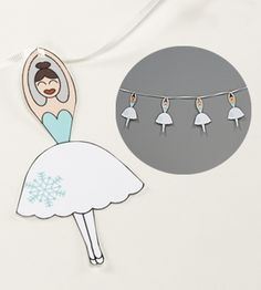 """Decorate your tree with this festive """"Dance of the Snowflakes"""" ballerina garland! #balletchristmas #nutcracker"""