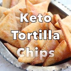 Crispy, crunchy and perfect for dipping! These Keto low carb tortilla chips taste just as good as the real thing, but with a fraction of the carbs. Gluten free! #lowcarb #keto #tortillachips