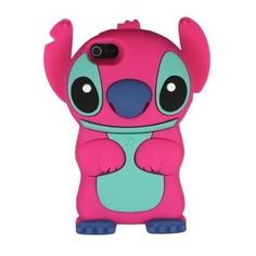 Hot Pink Cute 3D Cartoon with Movable Ears Silicone Rubber Soft Case Cover Fit for iPhone 5 &Iphone 5S