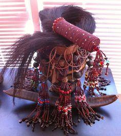 Oyá (also Ollá, Yansa or Yansán) is a fierce and powerful female warrior orisha in Santeria. She is the owner of the marketplace, and keeps the gates of the cemetery. She is the force of change in nature and in life. Oya Goddess, Oya Orisha, Afro, Orishas Yoruba, Yoruba Religion, Yoruba People, Warrior Spirit, African Diaspora, Voodoo