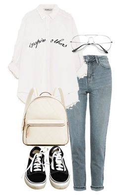 """""""Untitled #3578"""" by theeuropeancloset on Polyvore featuring Topshop and Vans"""