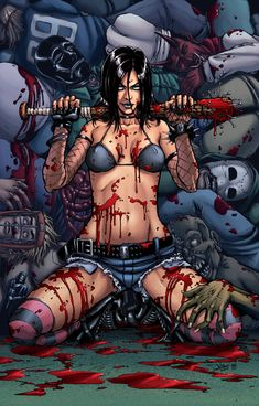 Cassie from Hack/Slash by Dan Leister
