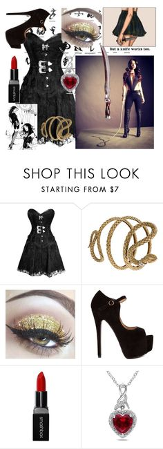 """Isabelle Lightwood"" by maxerica4life ❤ liked on Polyvore featuring Roberto Cavalli, Smashbox and Miadora"