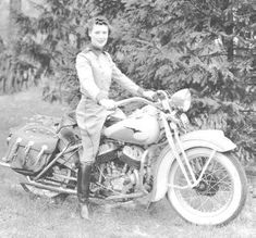 """Dorothy """"Dot"""" Robinson, """"the First Lady of Motorcycling,"""" a co-founder of """"Motor Maids"""" in 1940."""