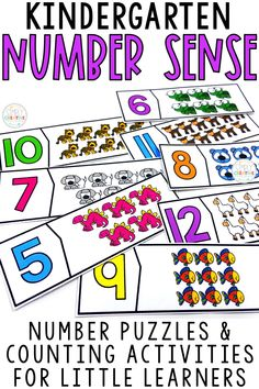 Kindergarten students will use these number sense math centers and number building activities for learning the numbers 1-20. They'll practice counting how many using cards, puzzles, and games. Great for kindergarten K.CC.5 standard or special education elementary classrooms to work on counting strategies.