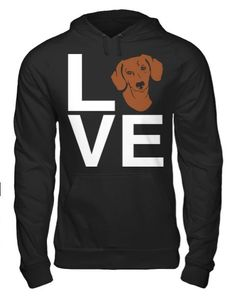This Red Dachshund Love hoodie is an A Dog's Love™ exclusive for red dachshund lovers who spell true love with a doxie! Now you can show off your red sausage dog pride with our popular Dachshund Love